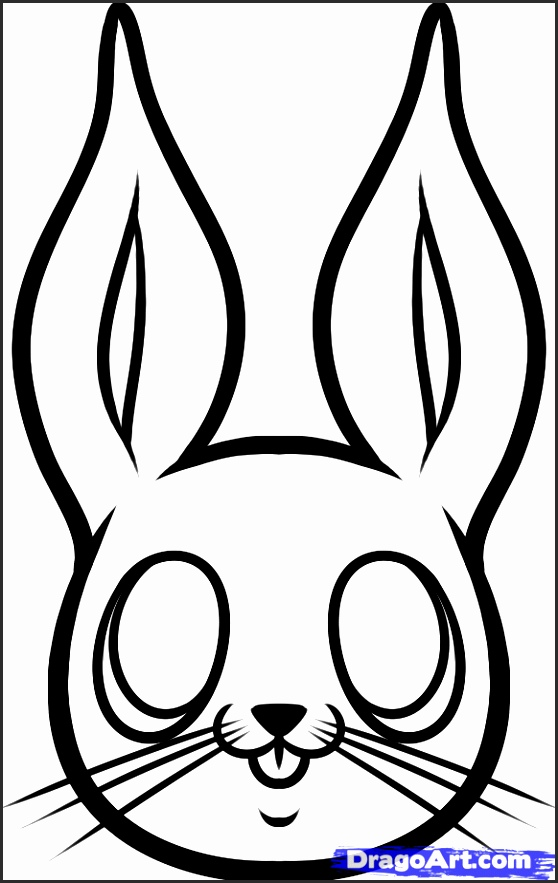 558x883 Bunny Head Outline Qclgf Fresh How To Draw A Cute Bunny Step By