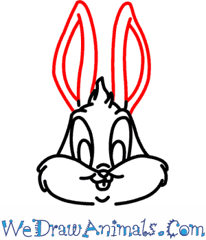 300x350 How To Draw Baby Bugs Bunny