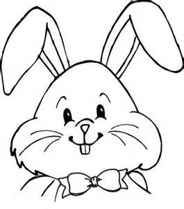 265x300 Rabbit Head Coloring Pages Easter Bunny Head Coloring Pages