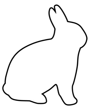 Bunny Template | Bunny Outline Drawing At Getdrawings Com Free For Personal Use