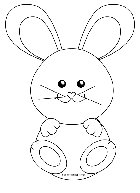 Bunny Outline Drawing at GetDrawings.com | Free for personal use ...