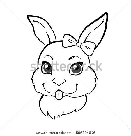 450x470 Drawn Bunny Face