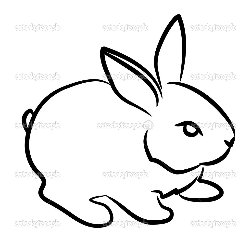 1024x1024 Easy Drawing Of A Rabbit Easy Drawing Of A Rabbit Drawing Step
