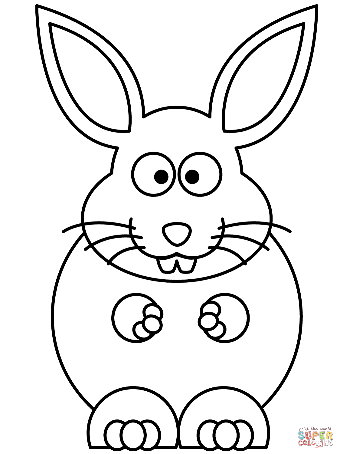 1124x1500 Cartoon Bunny Coloring Page Free Printable Pages