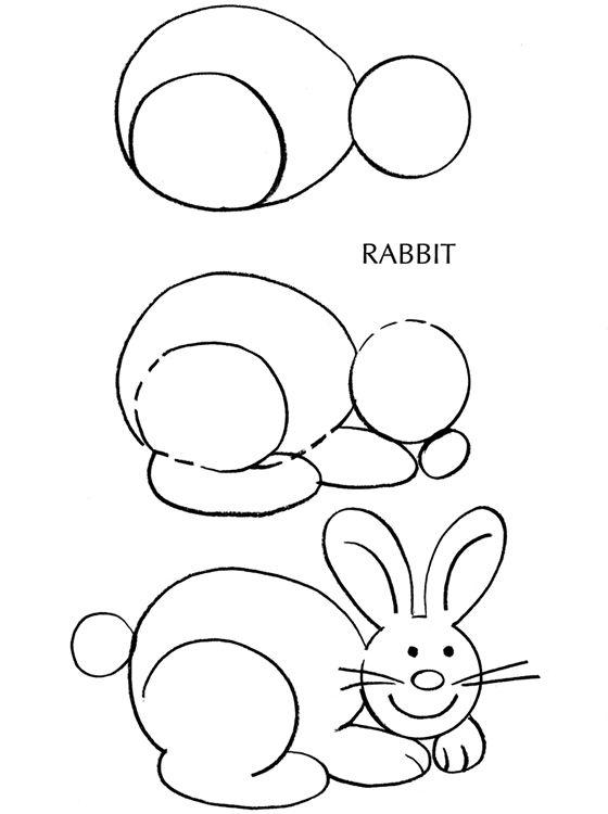 560x750 Bunny Rabbit Drawing Tutorial Draw Bunny Rabbit