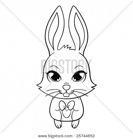 450x470 Drawn Bunny Rabbit Eye