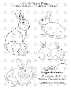 236x295 How To Draw A Rabbit Art
