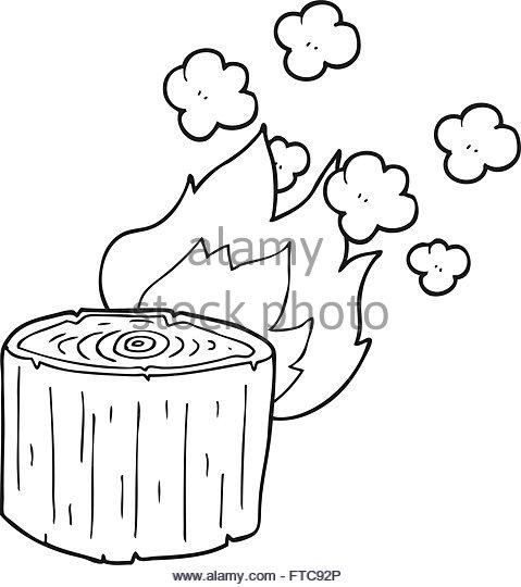 479x540 Freehand Drawn Cartoon Burning Tree Stock Photos Amp Freehand Drawn