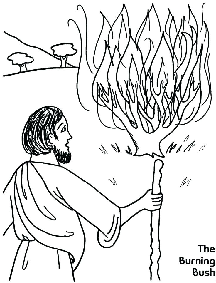 736x963 Moses Burning Bush Coloring Pages Printable