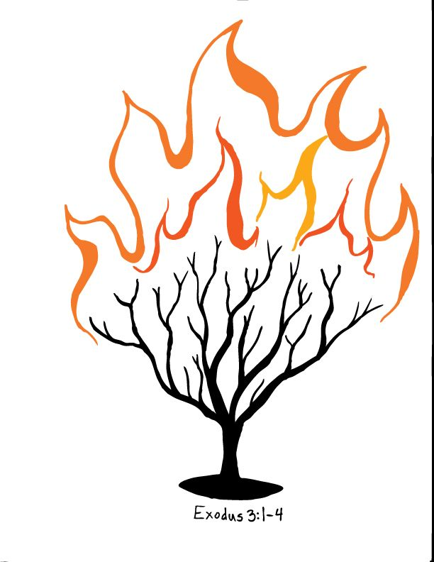 612x792 Burning Bush Clipart