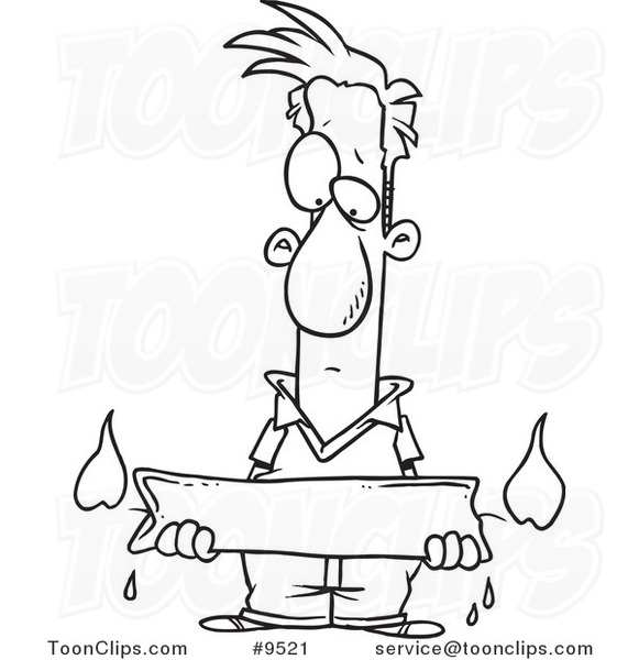 581x600 Cartoon Black And White Line Drawing Of A Guy Holding A Candle