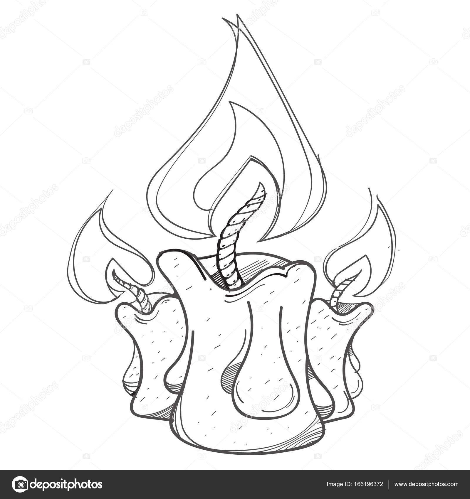 1600x1700 Burning Candles Logo Stock Vector Filkusto