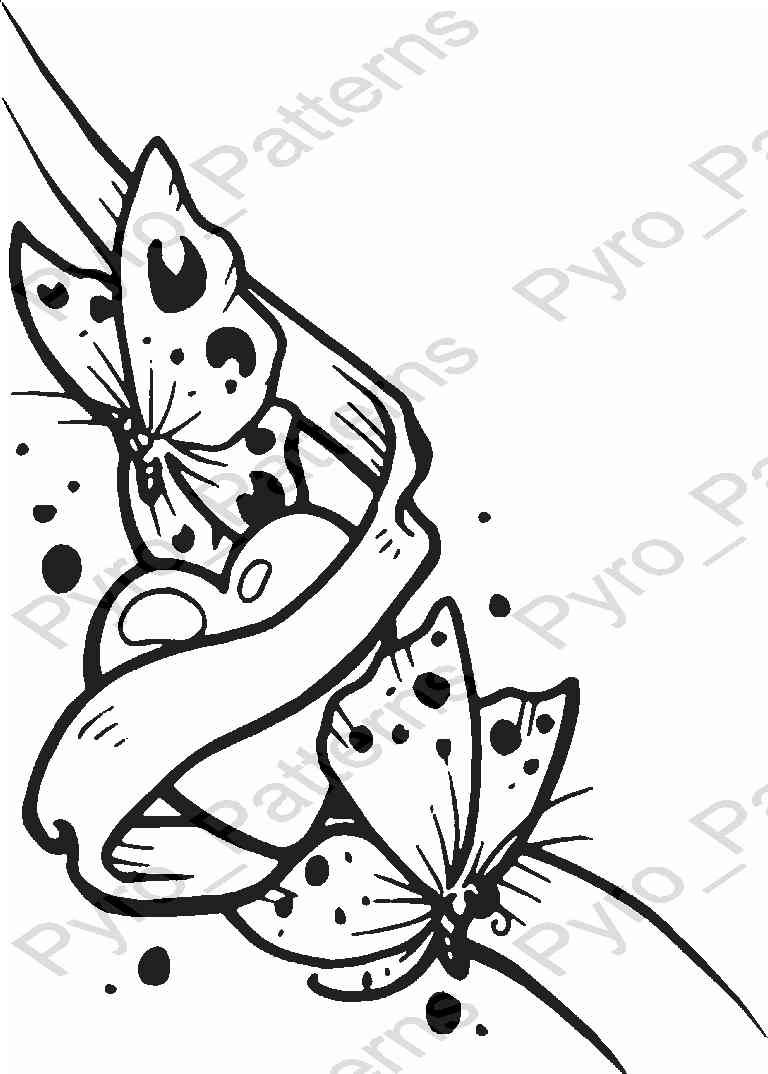 768x1074 Pyrography Wood Burning Butterfly Heart Pattern Printable
