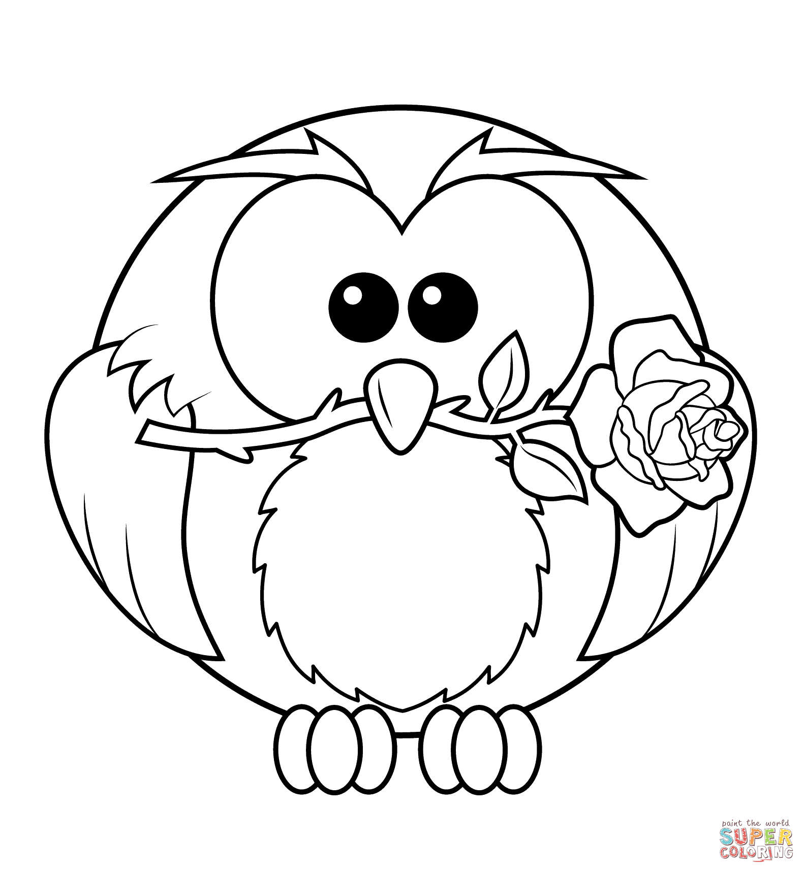 1584x1719 Professional Coloring Pages Of Owls Free