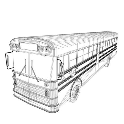 500x500 3d Model American School Bus Cgtrader