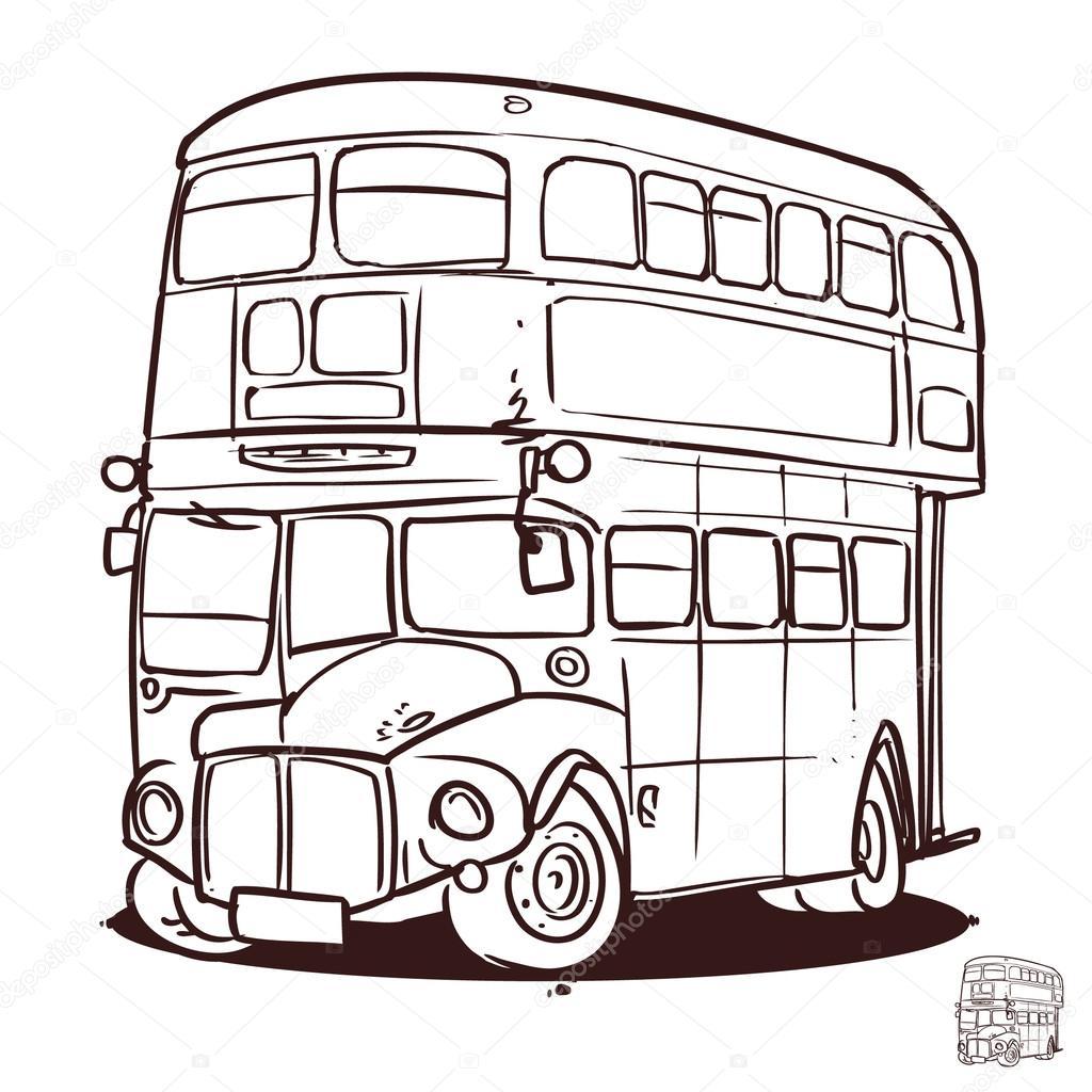 1024x1024 Double Decker Bus Drawing Double Decker Bus Stock Vectors, Royalty