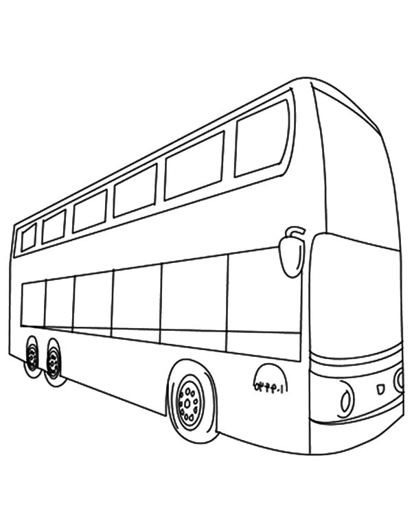 600x775 Double Decker Bus Line Coloring Page. Like The Kmb Bus Or Citybus