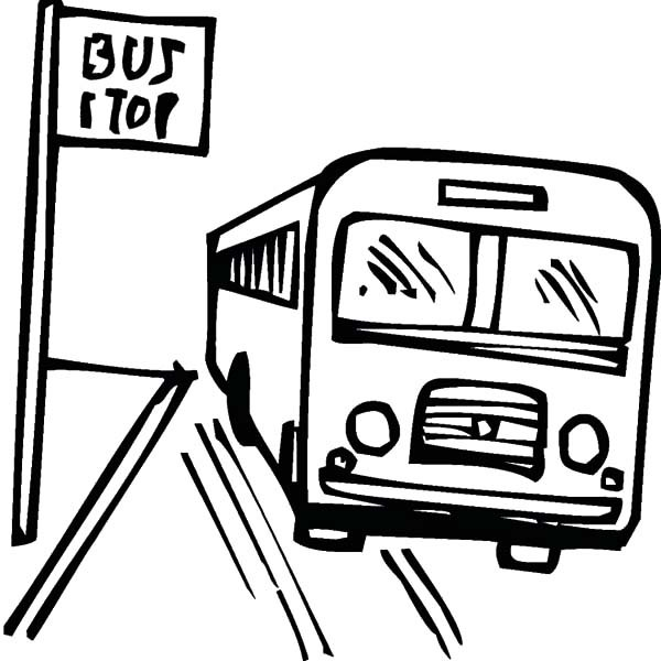 600x600 How To Draw Bus Stop Coloring Pages Best Place To Color