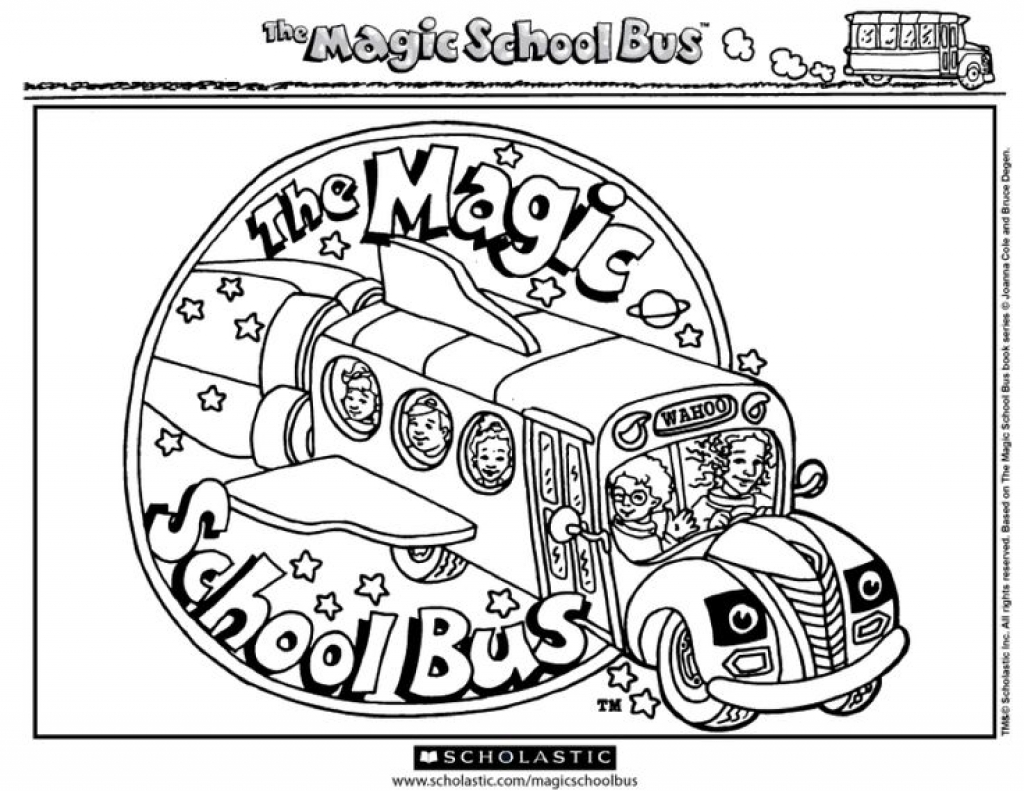 1024x791 Magic School Bus Coloring Pages Printable Preschool To Pretty Draw