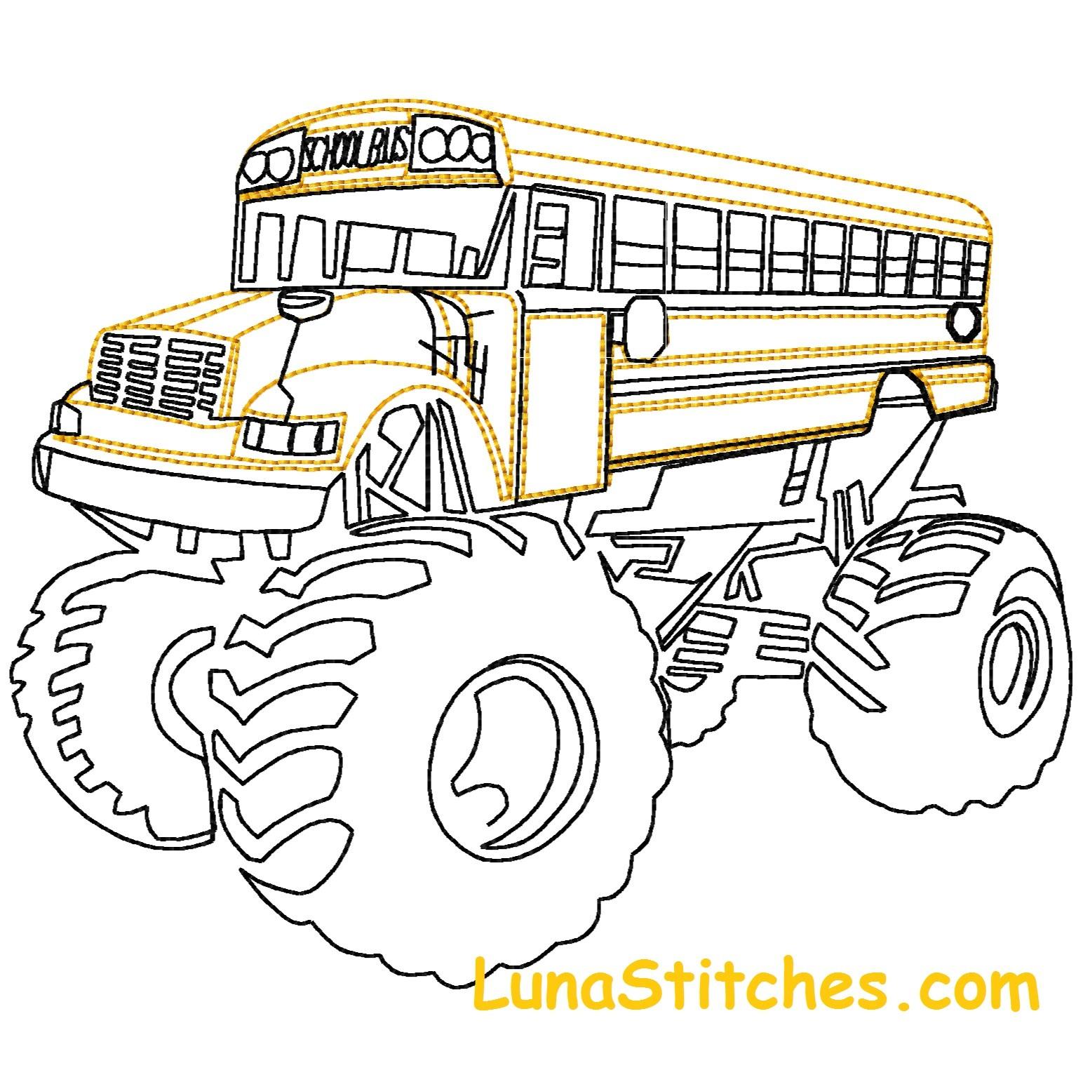 1544x1552 School Bus Monster Truck