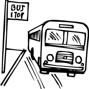 300x300 School Bus Stop Coloring Pages Best Place To Color
