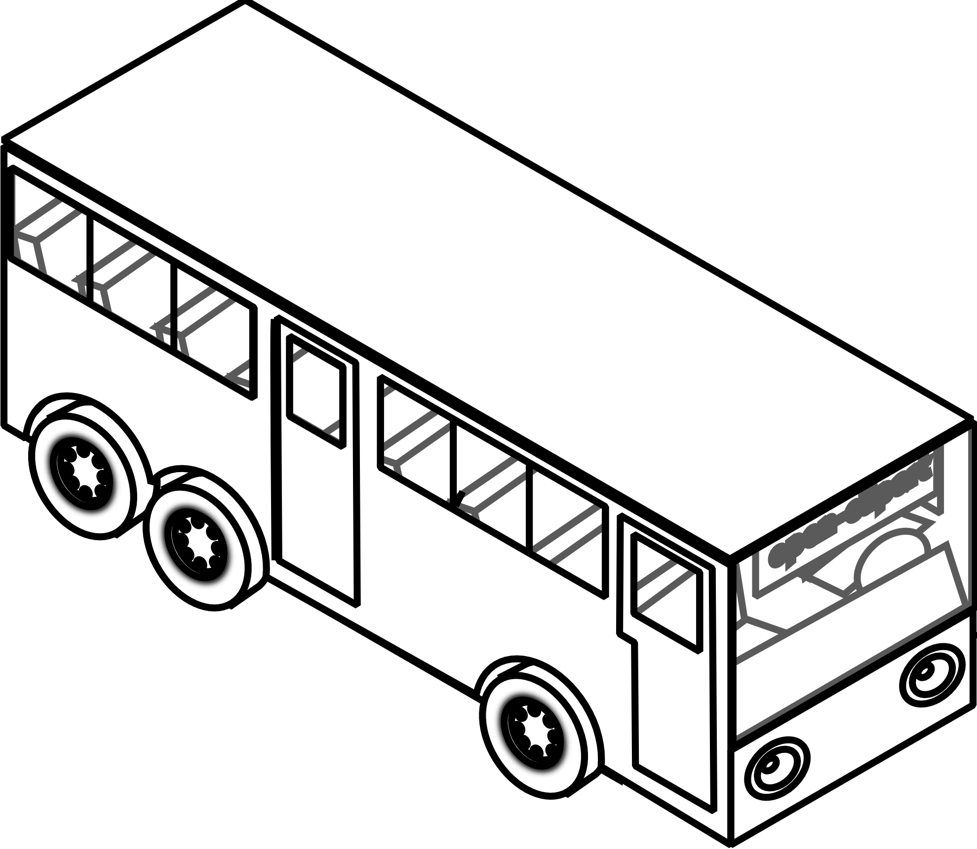 1979x1721 Bus With A Passenger Capacity Of Many Bus Coloring Pages