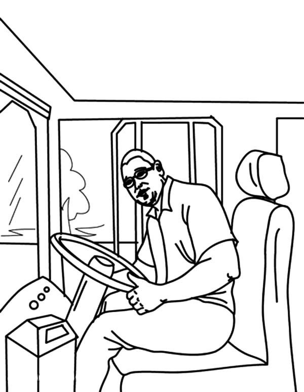 600x775 Bus Driver Started Bus Engine Coloring Pages Best Place To Color