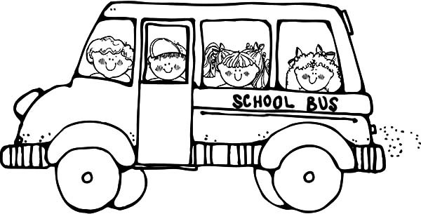 600x305 Bus Driver Take Student To School Coloring Pages Best Place To Color