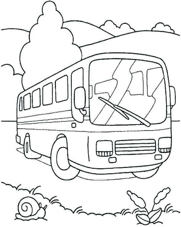 600x755 Coloring Picture Of A Bus Simple Bus Coloring Pages Coloring