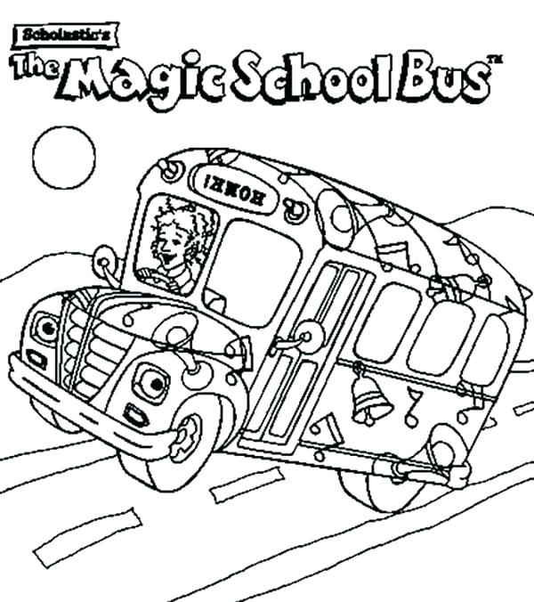 600x676 Simple School Bus Coloring Pages Kids Printable Page For Driver