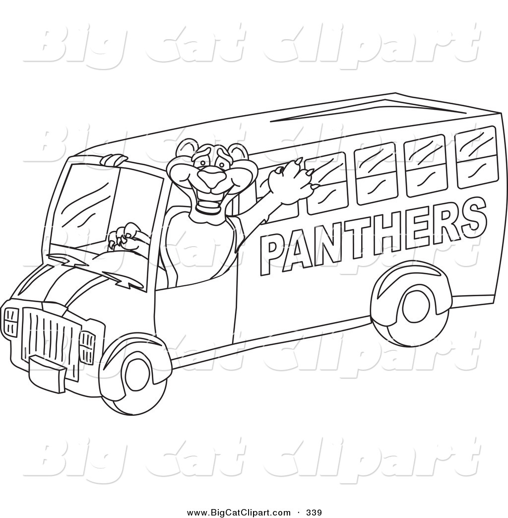 1024x1044 Big Cat Cartoon Vector Clipart Of An Outline Design Of A Panther