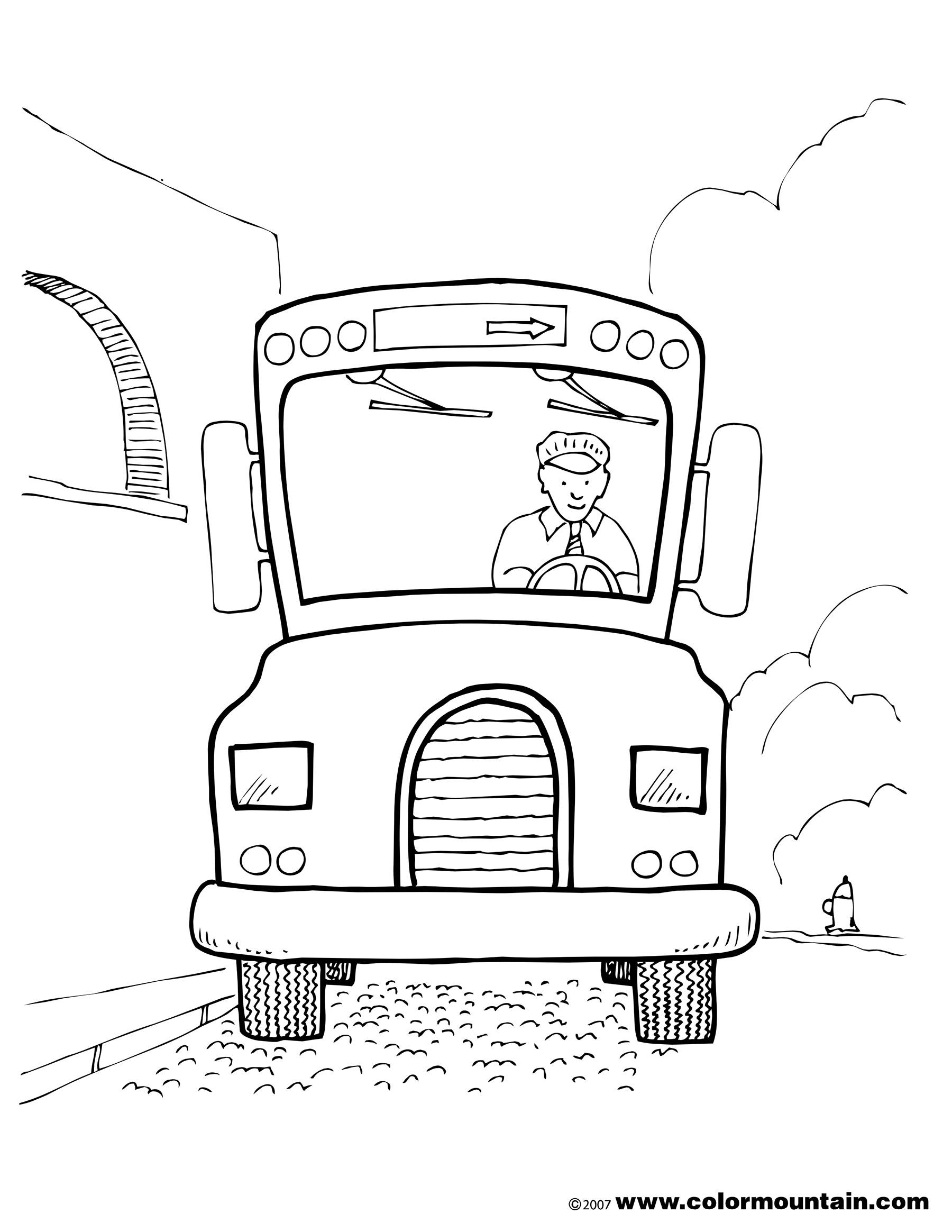 1800x2329 Bus Driver Color Page