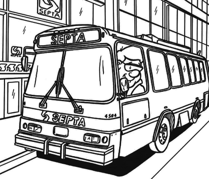 how to draw a city bus