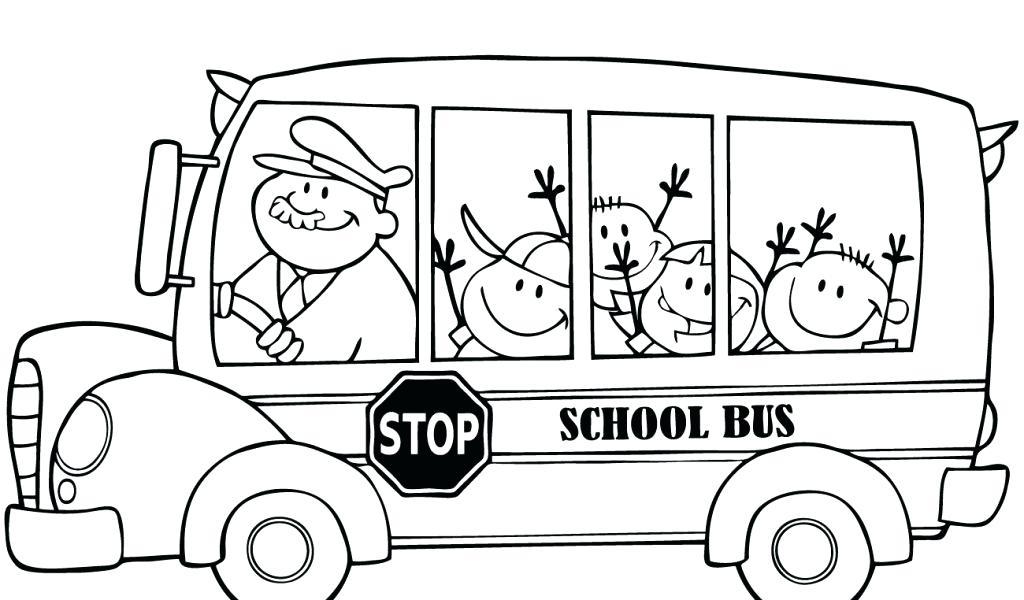 1024x600 Bus Coloring Page Pic Photo School Bus Coloring Page School Bus