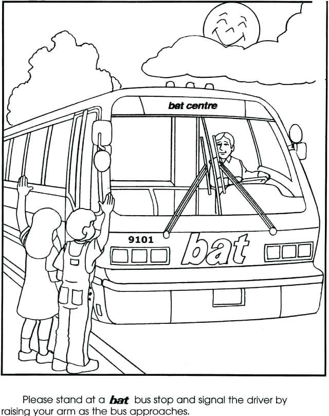 Bus Stop Drawing