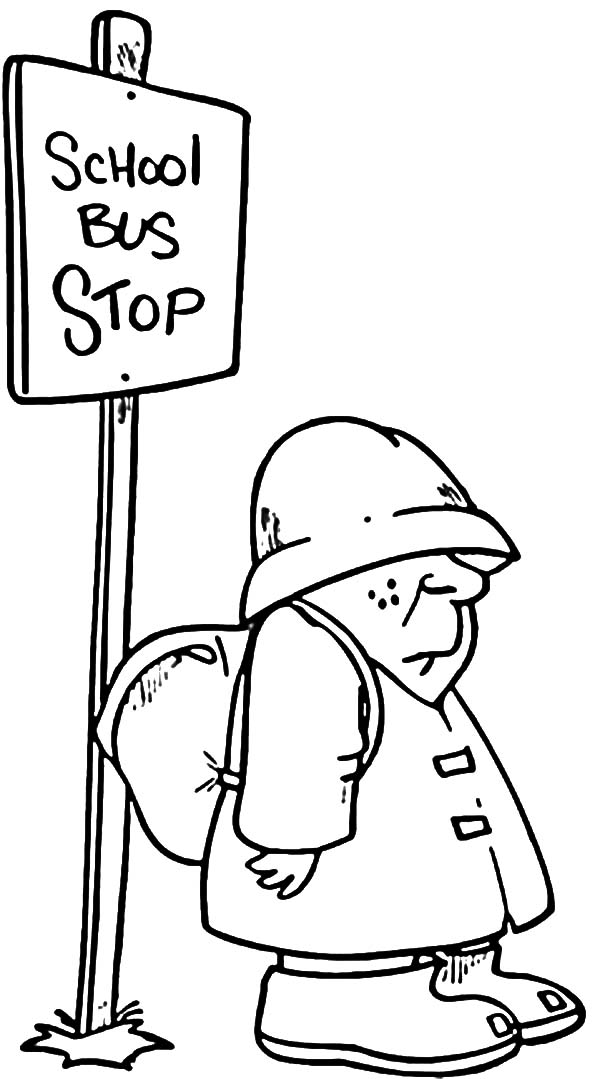 600x1079 Bus Stop Coloring Pages