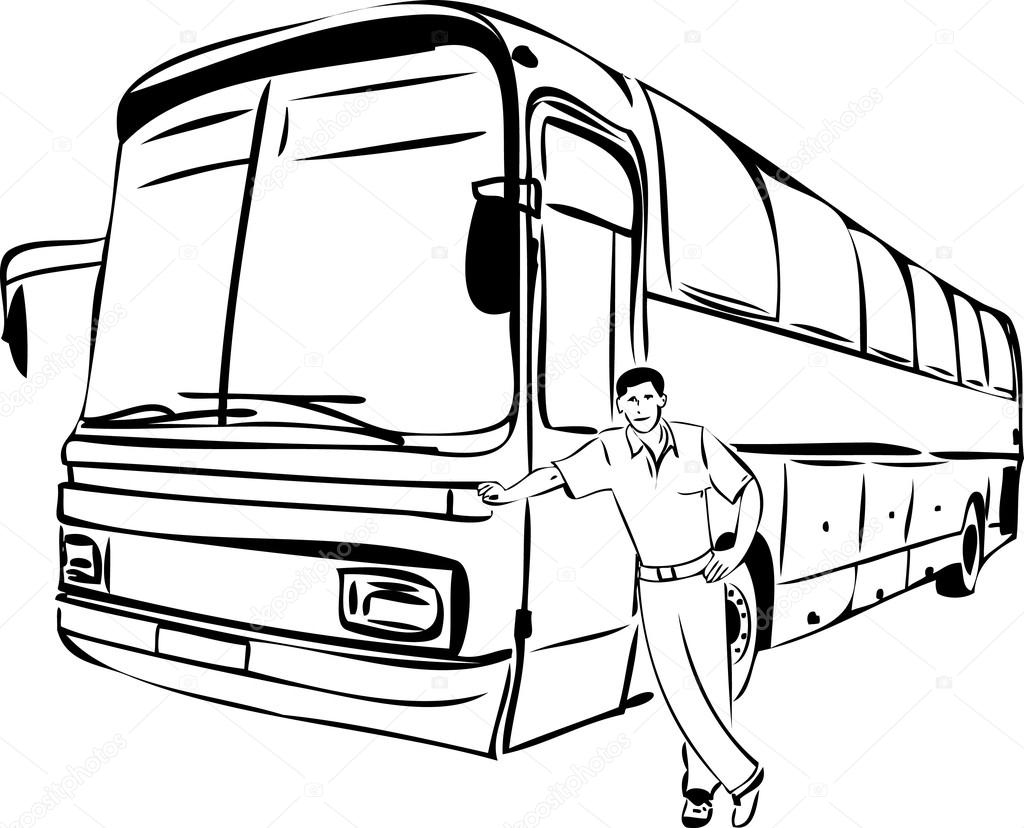 1024x828 Bus Driver Stock Vectors, Royalty Free Bus Driver Illustrations
