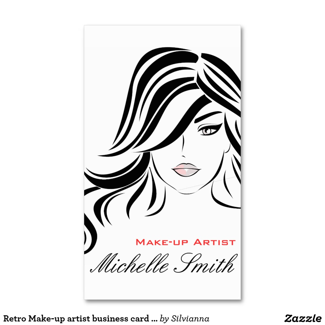 Business card drawing at getdrawings free for personal use 1104x1104 retro make up artist business card design hair and beauty salon reheart Image collections