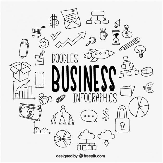 626x626 Great Business Infographic With Drawings Vector Free Download