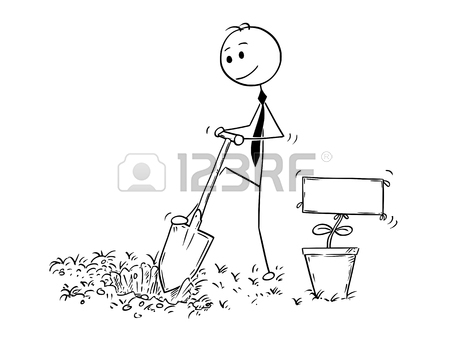 450x344 Cartoon Stick Man Drawing Conceptual Illustration Of Businessman