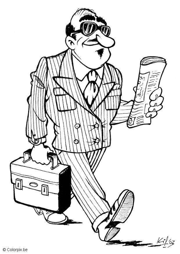 620x875 Coloring Page Businessman