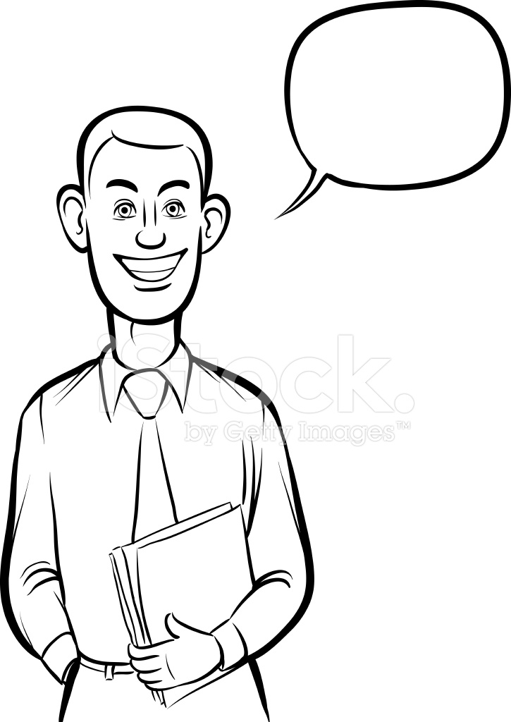 725x1024 Whiteboard Drawing Standing Smiling Business Person Stock Vector