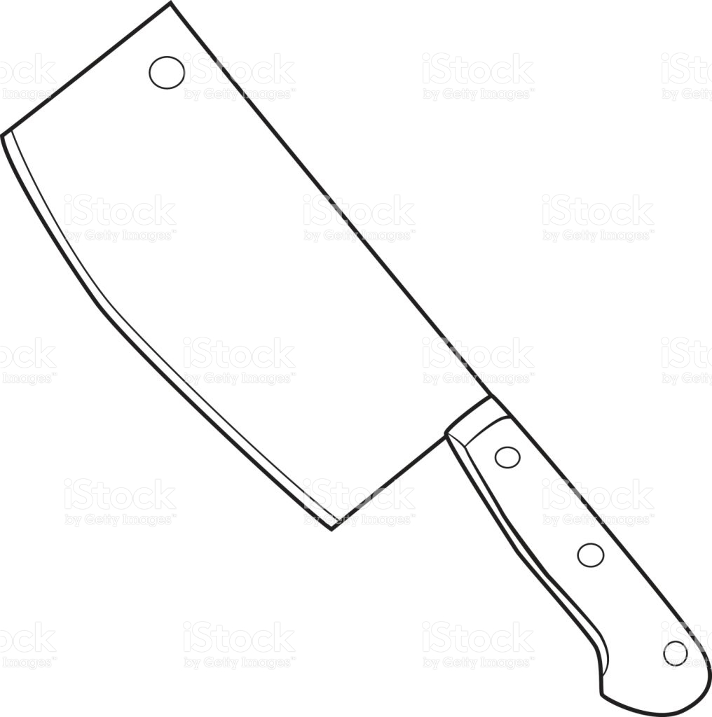 Line Drawing Knife : Butcher knife drawing at getdrawings free for