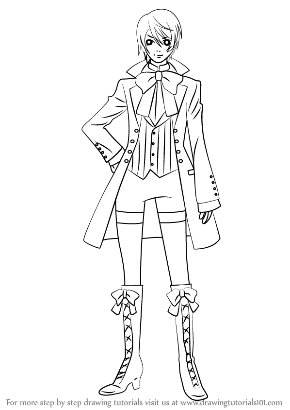 598x844 Learn How To Draw Alois Trancy From Black Butler (Black Butler