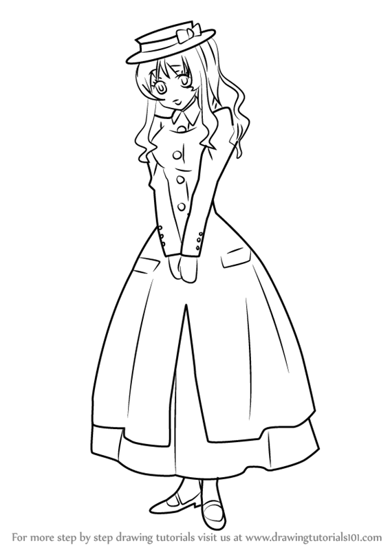 567x800 Learn How To Draw Paula From Black Butler (Black Butler) Step By