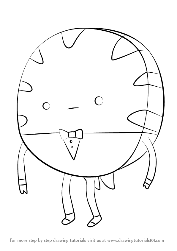 596x843 Learn How To Draw Peppermint Butler From Adventure Time (Adventure