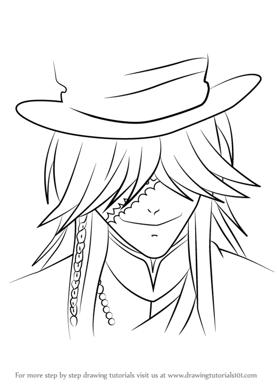 565x800 Learn How To Draw Undertaker From Black Butler (Black Butler) Step