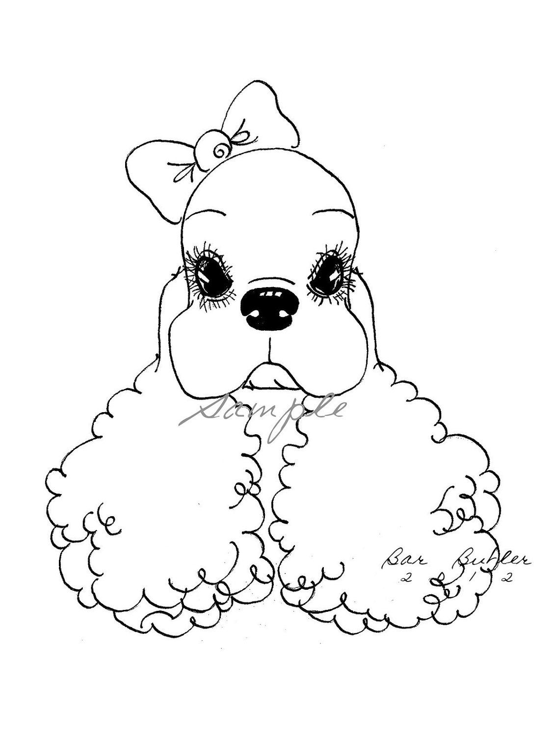 1125x1500 Cocker Spaniel Print Of Ink Drawing Cutest Ever Eyelashes Show