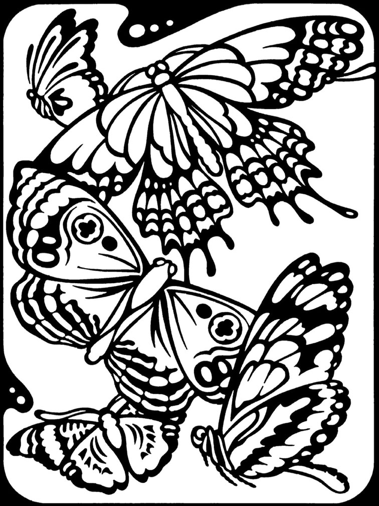 756x1008 Butterfly Coloring Page Kids Book Pinterest