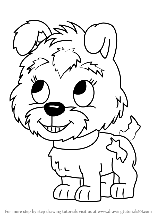 598x844 Learn How To Draw Buttercup From Pound Puppies (Pound Puppies